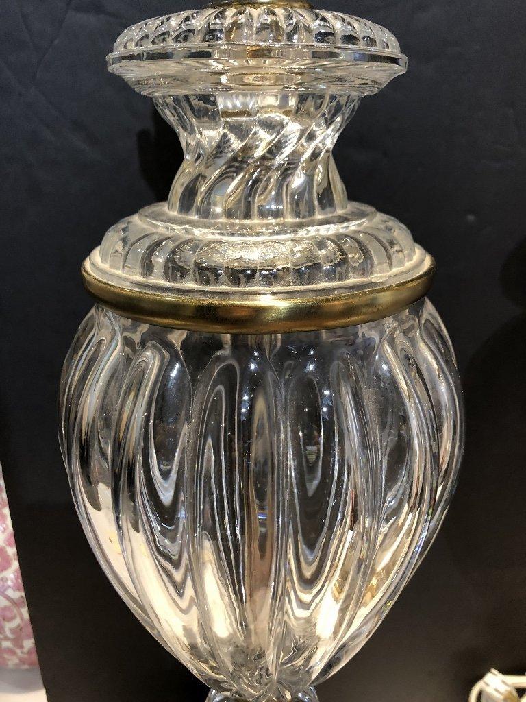 Pair of glass lamps, c.1950 - 2