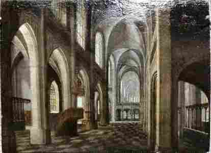 Painting church interior by Anthonie de Lorme.17thc