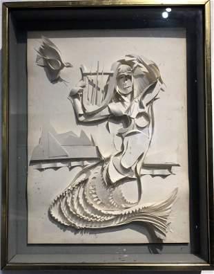 Mermaid by Xavier Gonzalez(a paper sculpture)