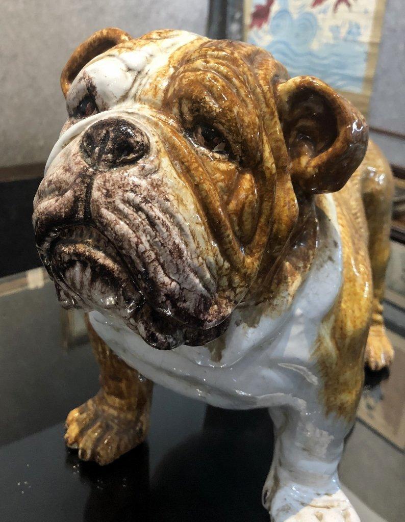 Ceramic bulldog statue, c.1970 - 5