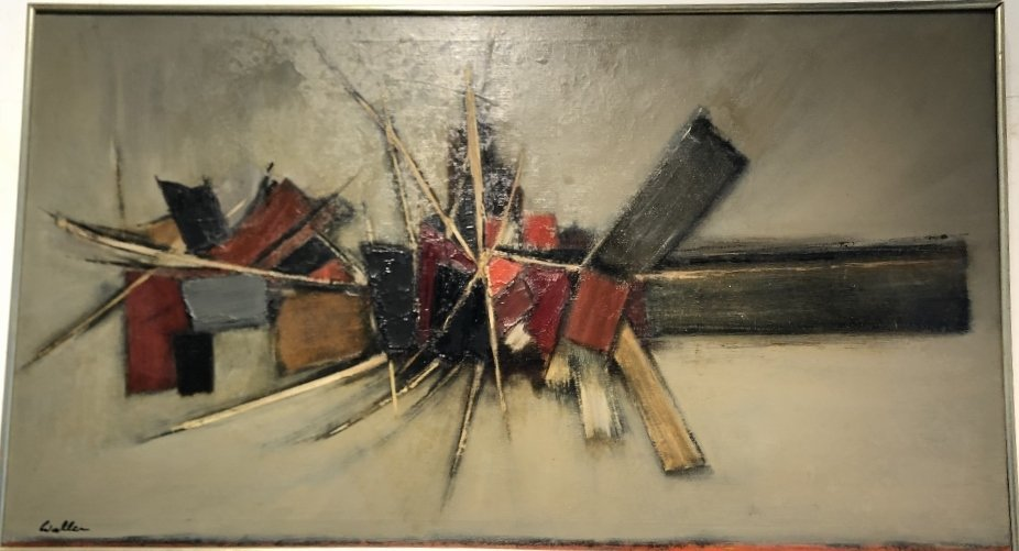 Abstract ptg by John Waller, c.1965,titled IMPACT