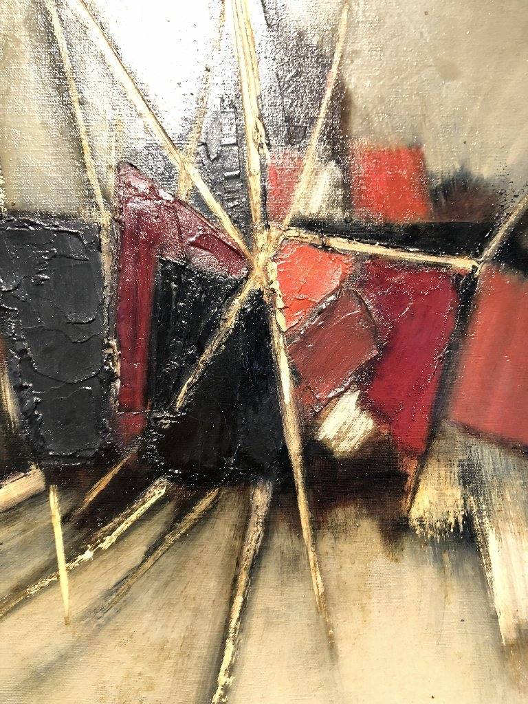 Abstract ptg by John Waller, c.1965,titled IMPACT - 2