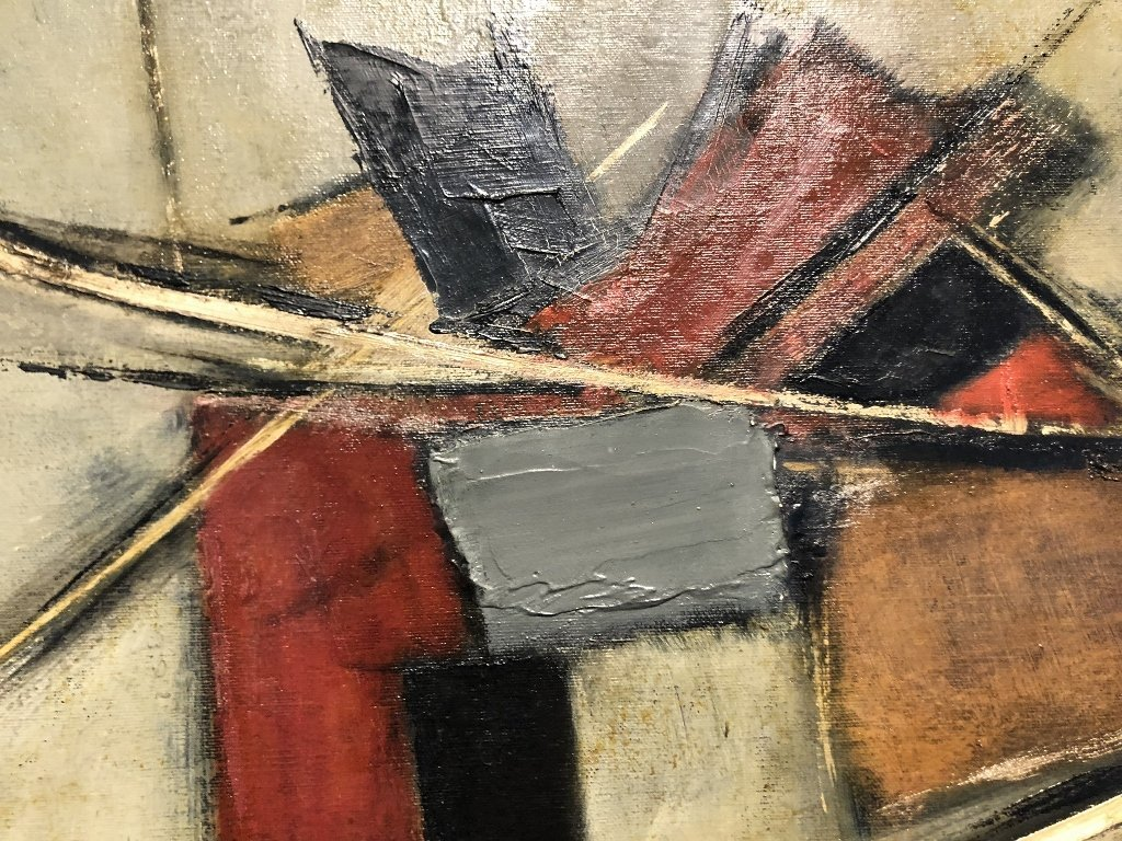 Abstract ptg by John Waller, c.1965,titled IMPACT - 3