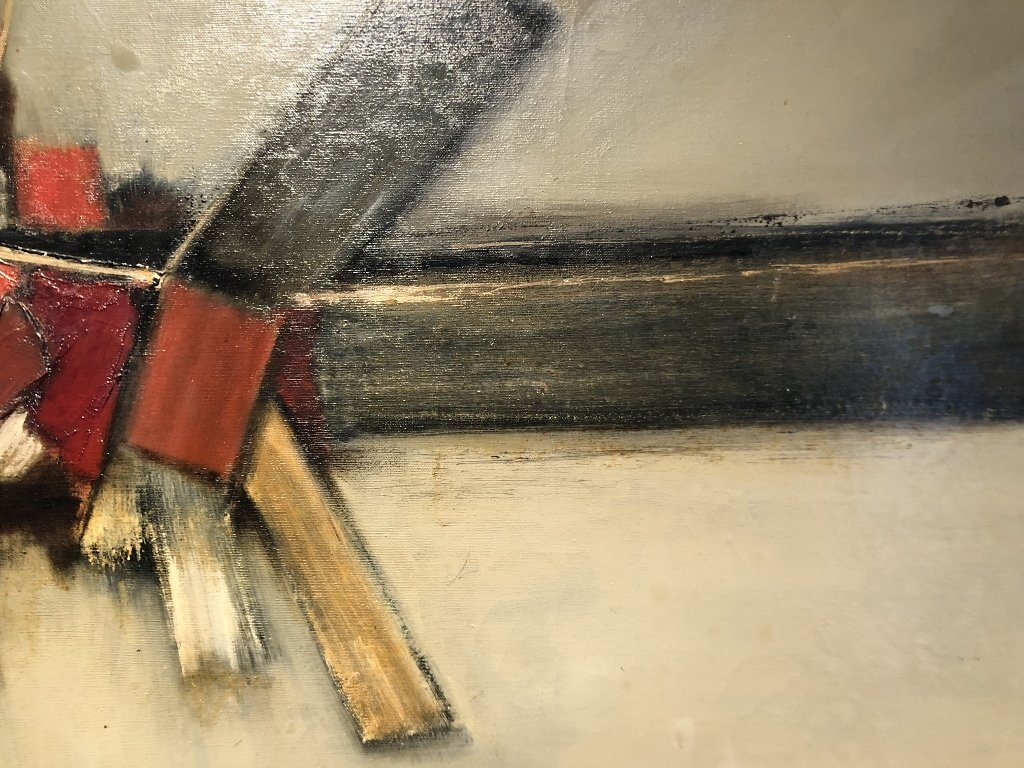 Abstract ptg by John Waller, c.1965,titled IMPACT - 4