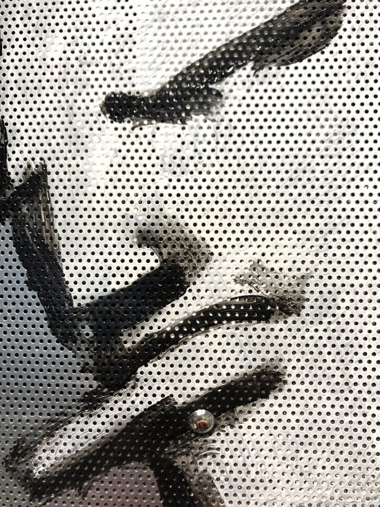 Painting on metal grill of a STUD by  Robert Loughlin - 2