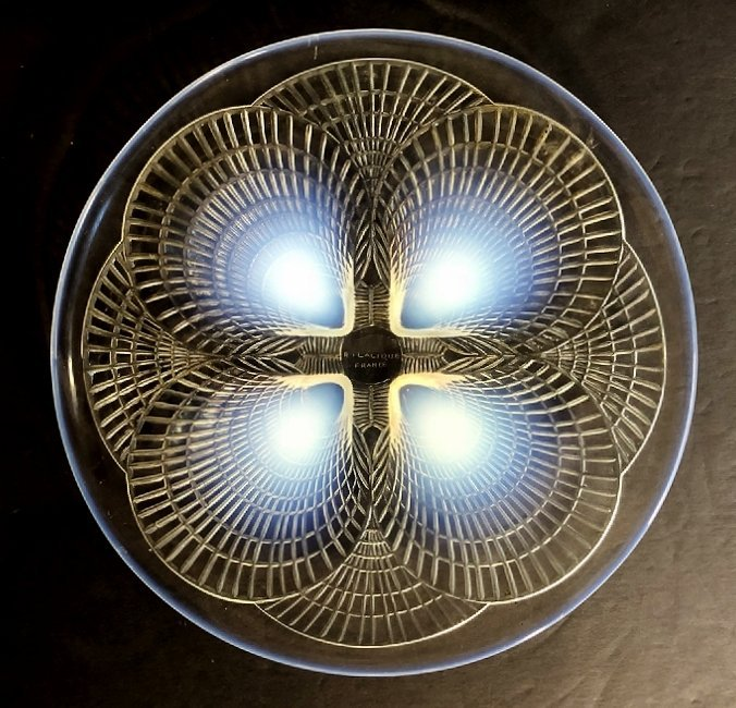 """R.Lalique opalescent """"Coquilles"""" plate, c.1930"""