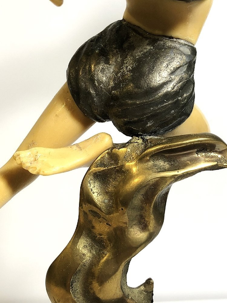 Art Deco style figurine with flames, c.1965 - 6