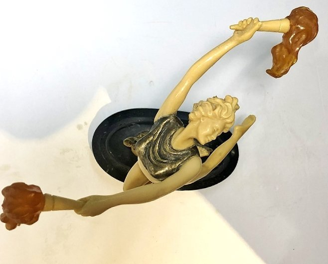 Art Deco style figurine with flames, c.1965 - 7