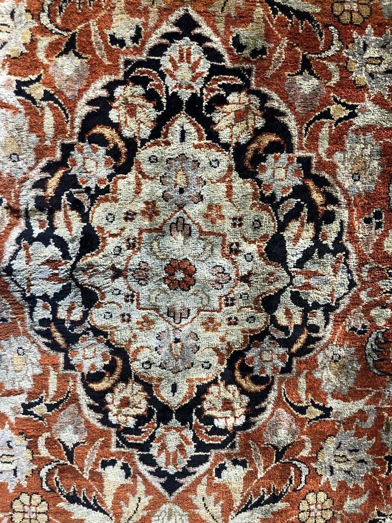 Small handmade silk carpet, c.1940 - 2