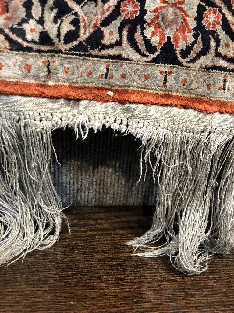 Small handmade silk carpet, c.1940 - 3