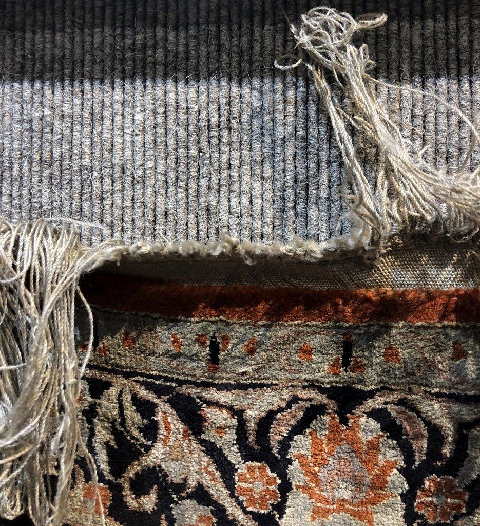 Small handmade silk carpet, c.1940 - 4