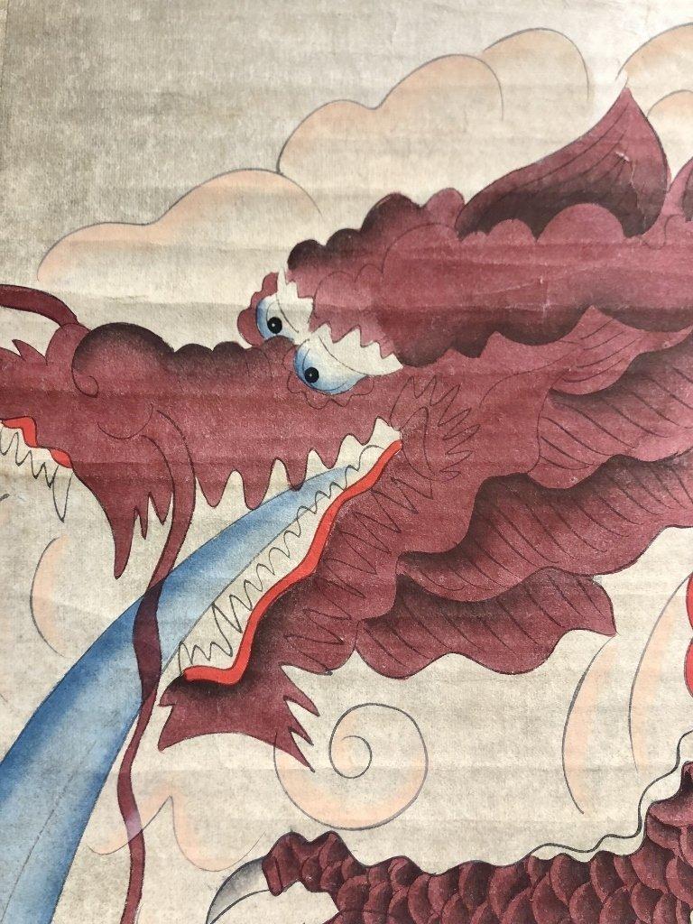 Chinese dragon scroll by Li ShiWei, c.1930 - 3