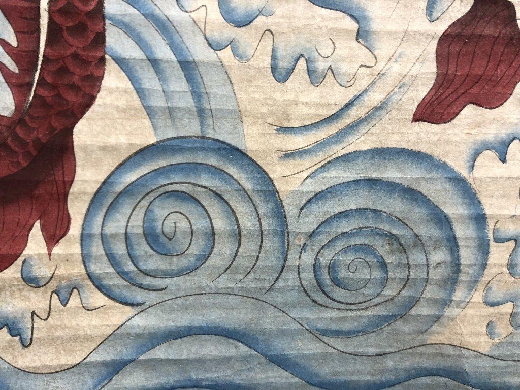Chinese dragon scroll by Li ShiWei, c.1930 - 5