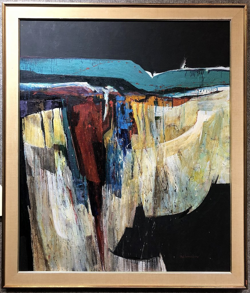 Abstract painting by Fred Samuelson