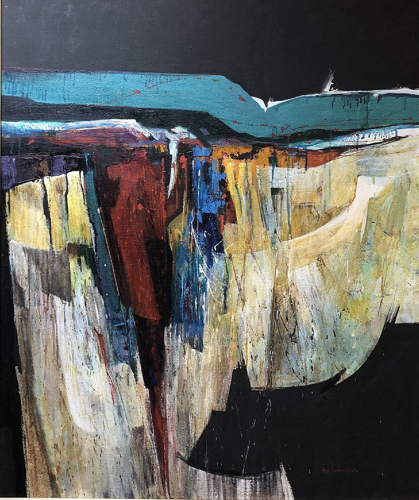 Abstract painting by Fred Samuelson - 2