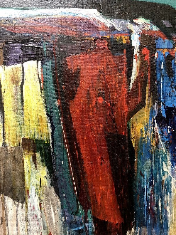 Abstract painting by Fred Samuelson - 5