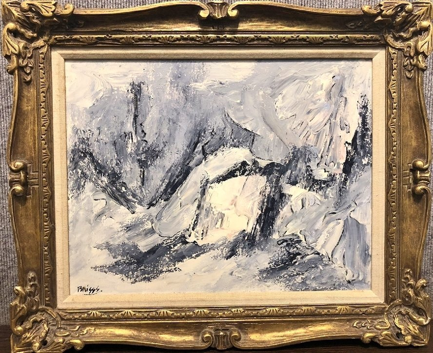 Abstract painting by Ernest Briggs, Mexico, No.2