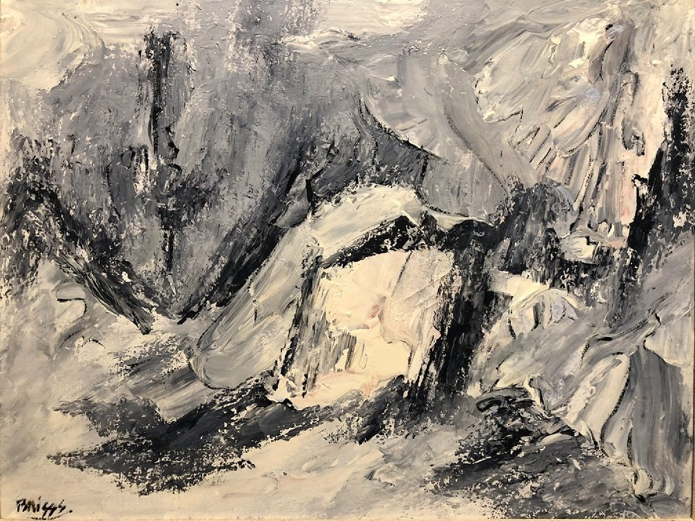 Abstract painting by Ernest Briggs, Mexico, No.2 - 2