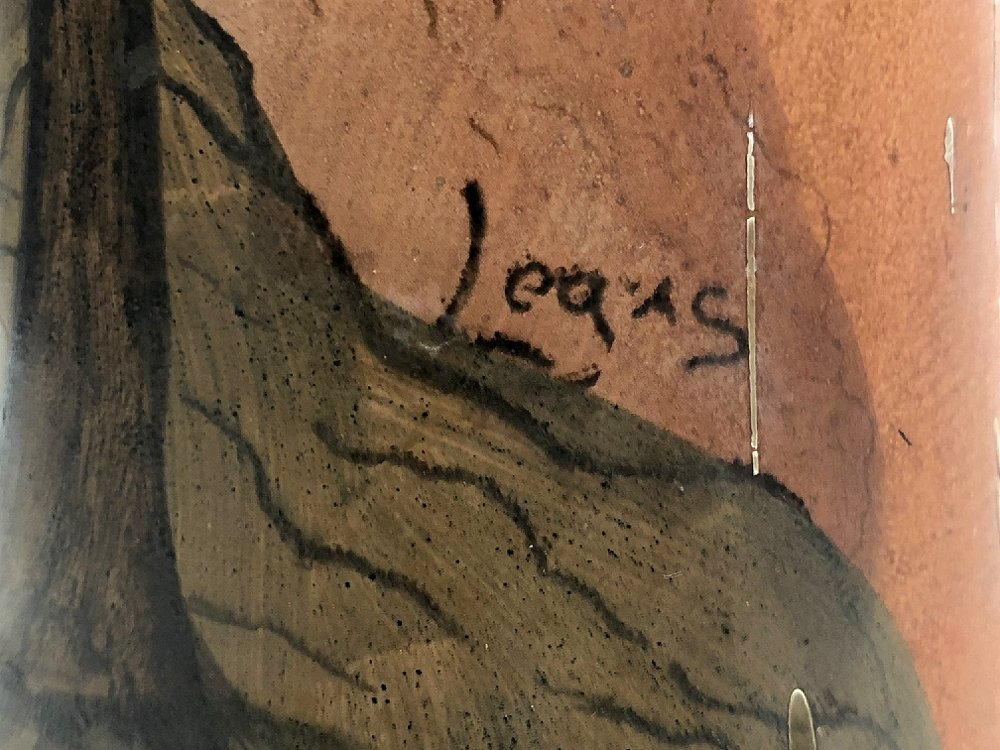Legras scenic vase, sheep, c.1905 - 3