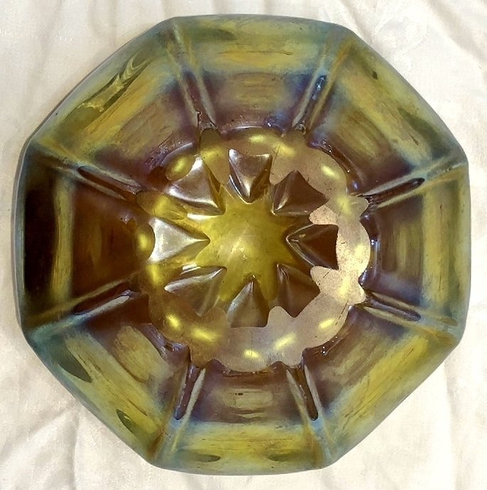 Louis Comfort Tiffany favrille bowl, c.1900, signed LCT - 3