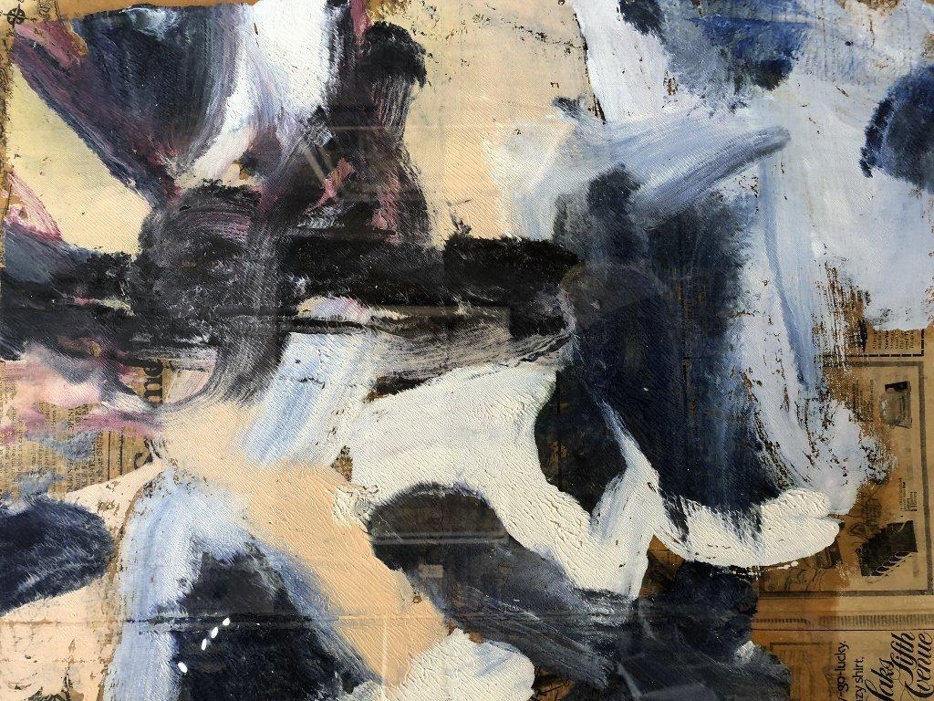 """Untitled III"",Willem de Kooning ptg, 29"" x 23"" - 4"