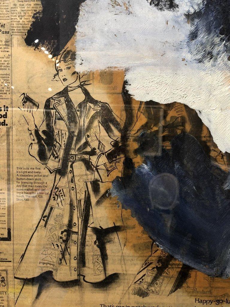 """Untitled III"",Willem de Kooning ptg, 29"" x 23"" - 6"