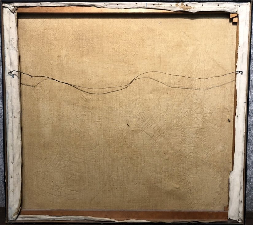 """Abstract painting by Ernest Briggs, c.1950 39"""" x 35"""" - 6"""