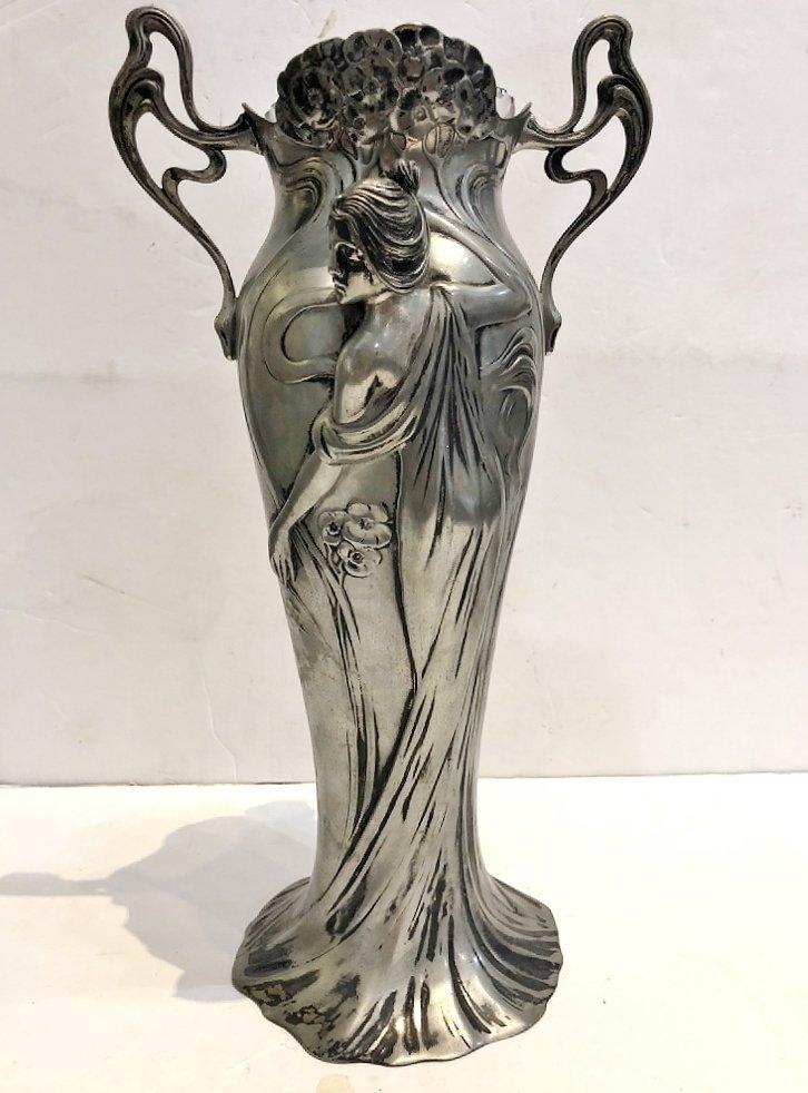 WMF vase with glass insert, c.1905