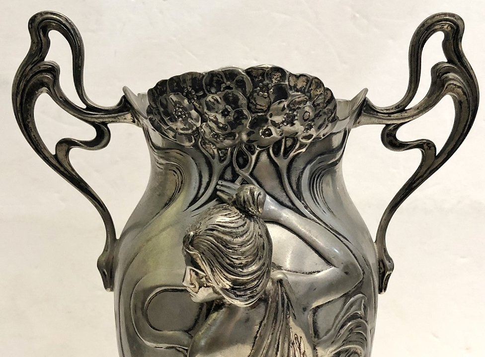 WMF vase with glass insert, c.1905 - 8