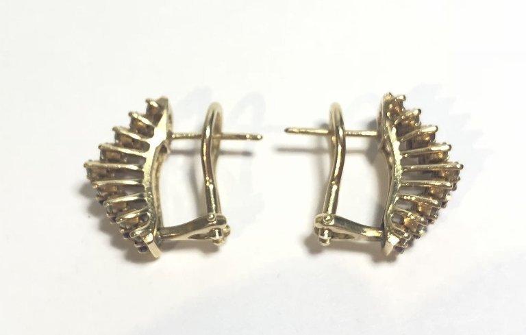 14k ruby diamond earrings, 3.2 dwts - 4