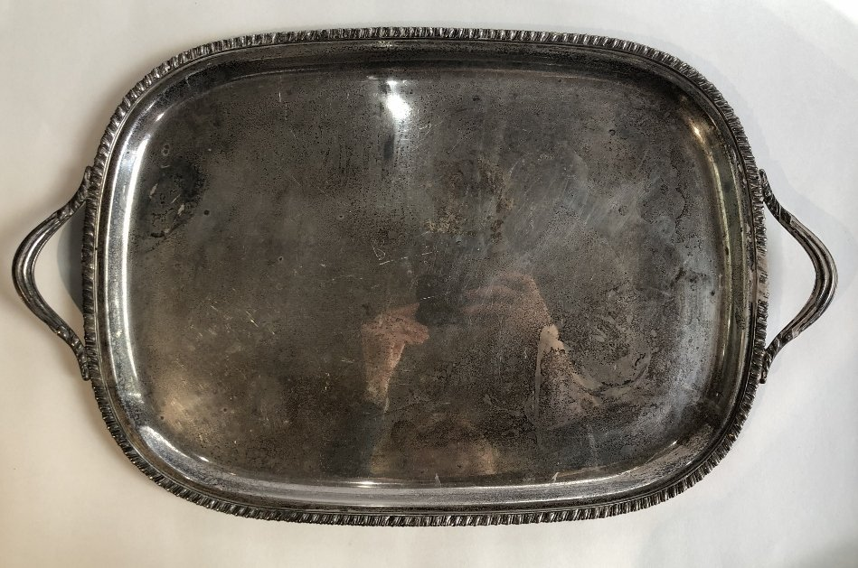 Two handled American sterling tray,c.1965,70.4t.oz