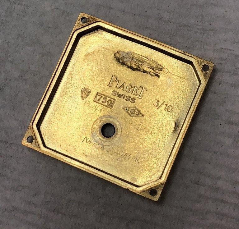 18k Piaget mans watch, 95 dwts - 4
