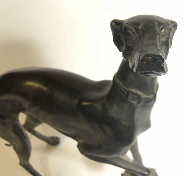 Bronze statue of a whippet, c.1950 - 2