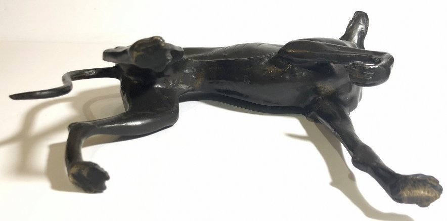 Bronze statue of a whippet, c.1950 - 5