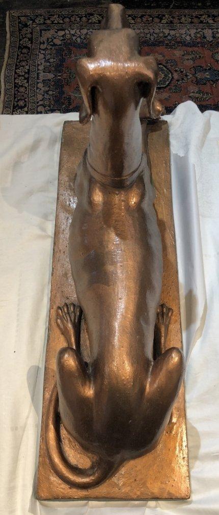 Copper painted dog sculpture, c.1950 - 6