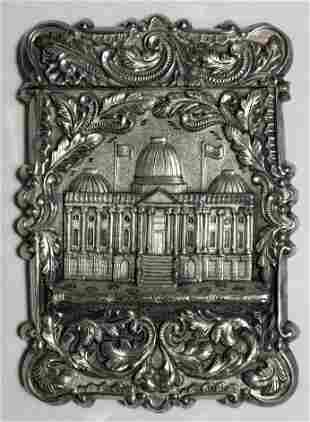 Silver card case c1880 15 toz