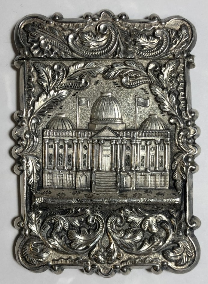 Silver card case, c.1880, 1.5 t.oz