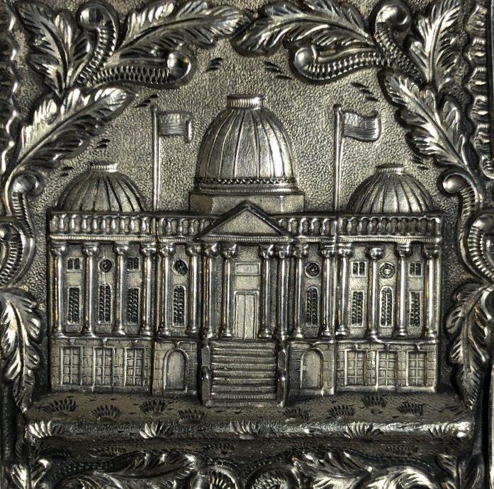 Silver card case, c.1880, 1.5 t.oz - 2