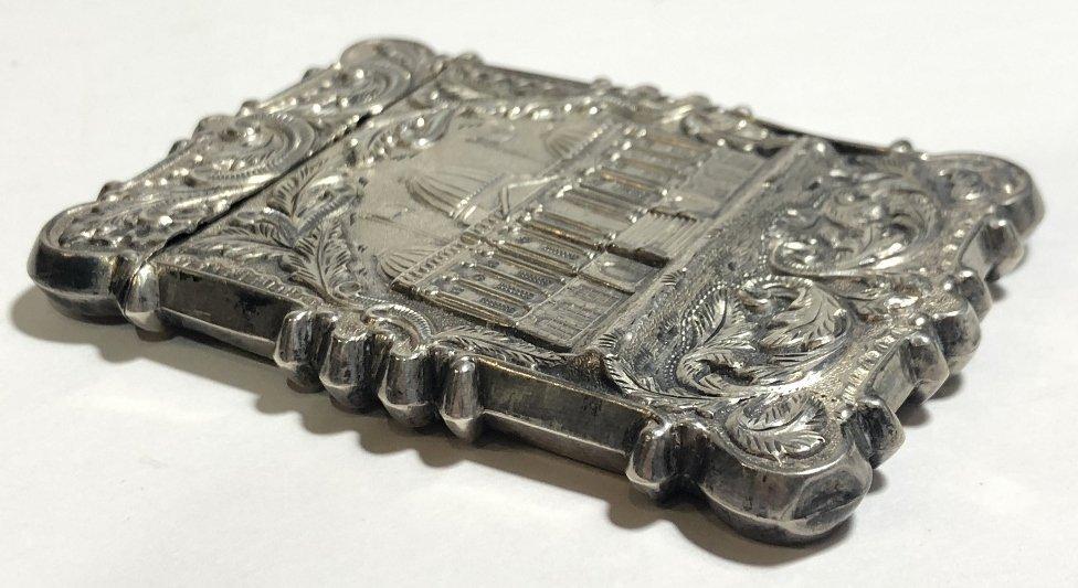 Silver card case, c.1880, 1.5 t.oz - 3