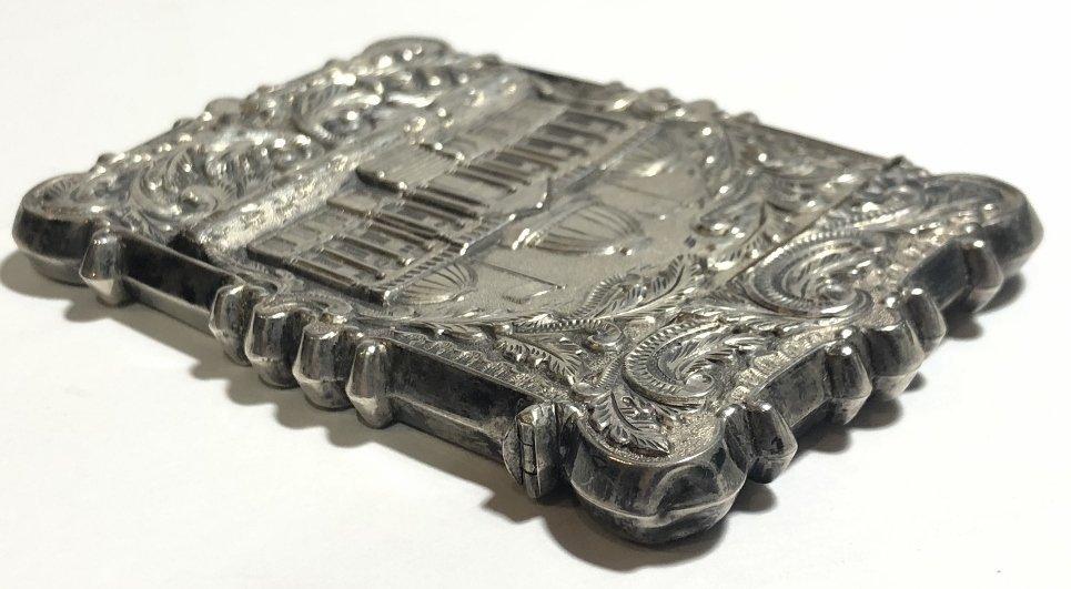 Silver card case, c.1880, 1.5 t.oz - 4