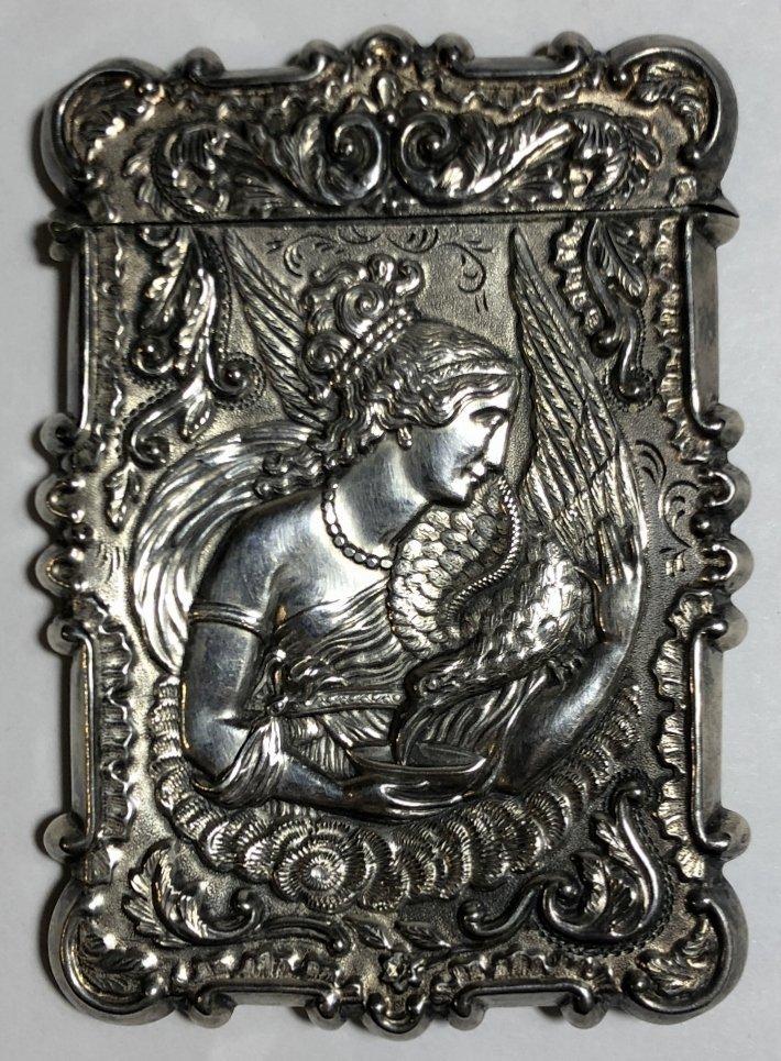 Silver card case, c.1880, 1.5 t.oz - 5
