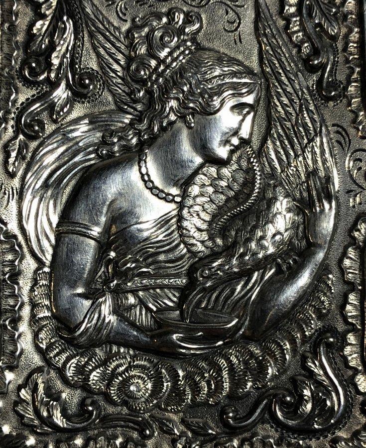 Silver card case, c.1880, 1.5 t.oz - 6