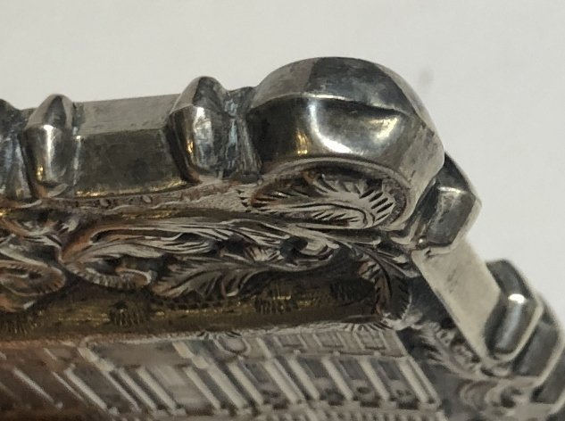Silver card case, c.1880, 1.5 t.oz - 7