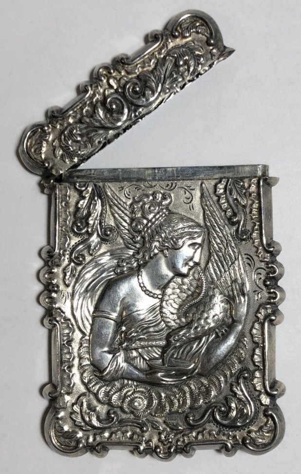Silver card case, c.1880, 1.5 t.oz - 8