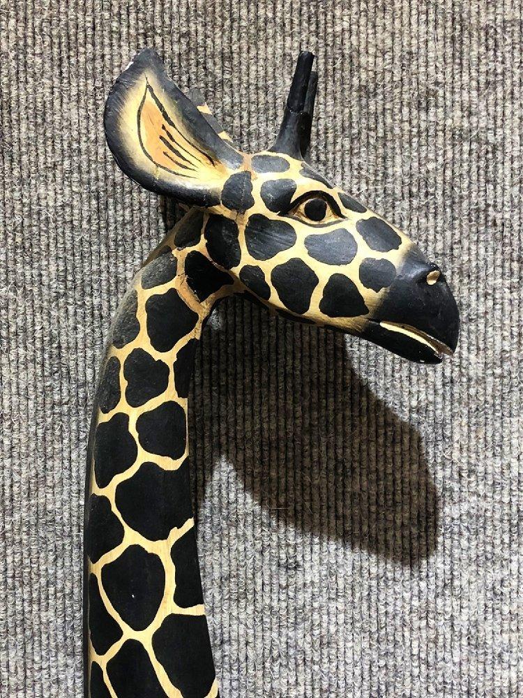 Painted wood giraffe, c.1970 - 3