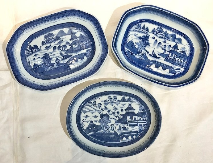 Chinese Canton plates, c.1900