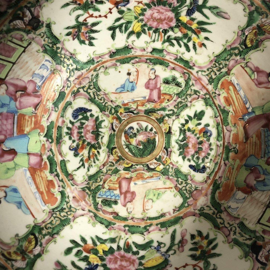 Rose Medallion bowl, c.1900 - 5
