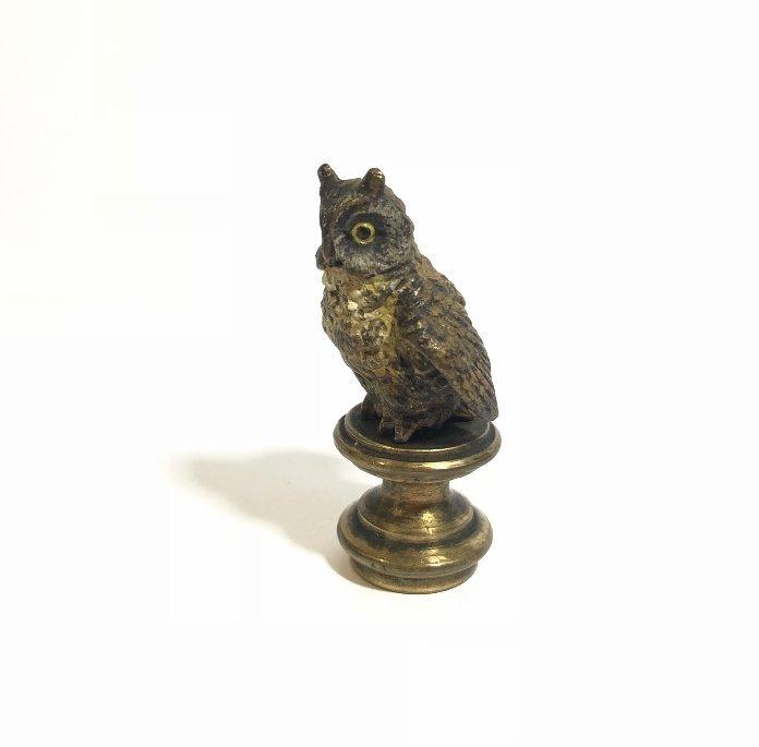 Vienna bronze owl seal, circa 1920 - 2