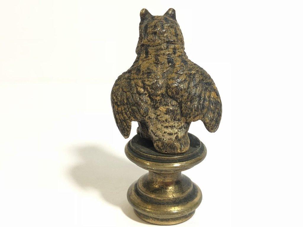 Vienna bronze owl seal, circa 1920 - 5