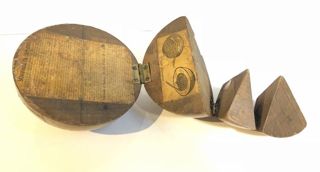 Old wood sphere, missing one corner - 2